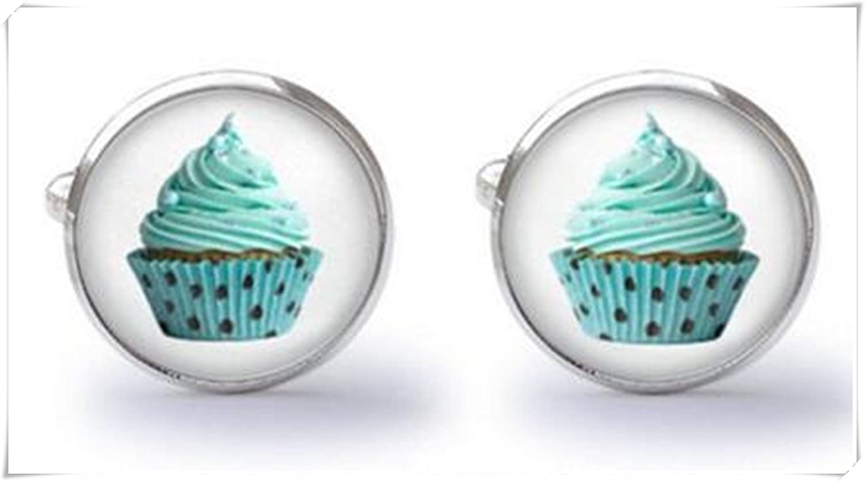 Gemelos Gemelos de diseño de cupcake: Amazon.es: Joyería