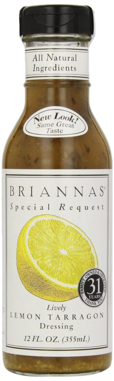 Brianna's Dressing Lively Lemon Tarragon 12.0 FO (Pack of 3)
