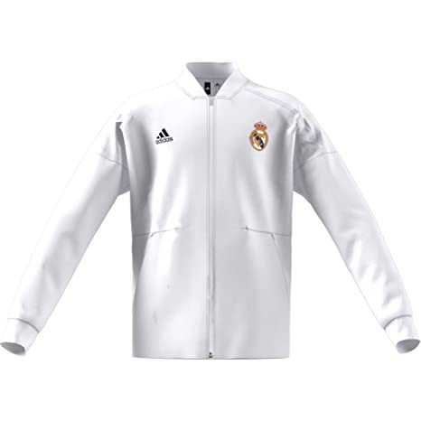 adidas Chaqueta Real Madrid ZNE KY 2018-2019 Niño Core white-Black Talla 128