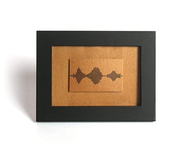 I Love You Soundwave Art Visible Voice Wedding Anniversary Gifts for him/her Motheru0027s Day Present - 3.5 x 5 inch Small Framed Bronze Print Small Things ...  sc 1 st  Amazon.com & Amazon.com: I Love You Soundwave Art Visible Voice Wedding ...
