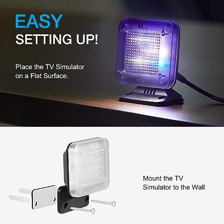 1 by One Fake TV, Simulador TV –Protección de antirrobo, Seguridad del hogar, Sensor de luz y Temporizador: Amazon.es: Bricolaje y herramientas