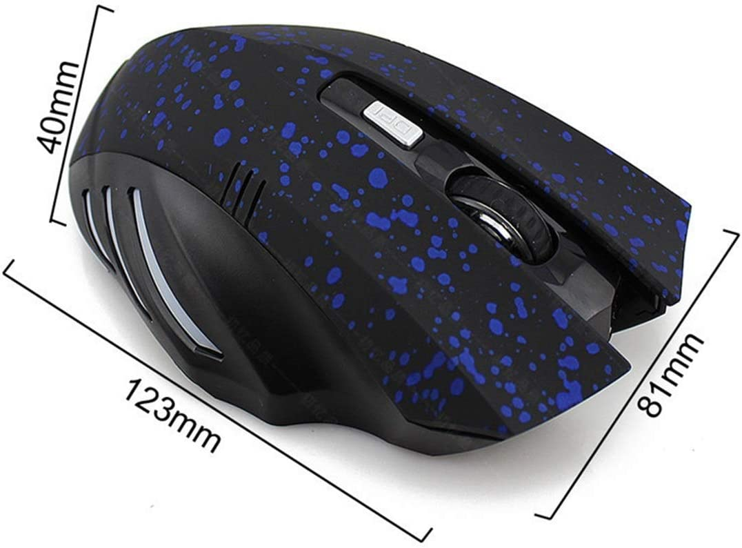 Hexiaoyi New Bluetooth Mouse Leopard Print Snowflake Arrogant Rechargeable Game Mouse Color : Snowflake Gold
