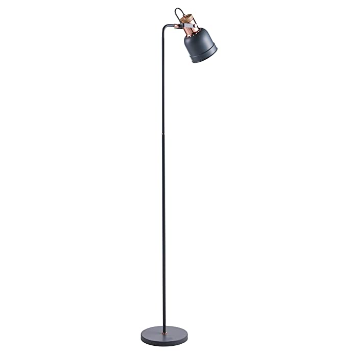 Versanora - Lattine Monopod Floor Lamps - Grey/Gold