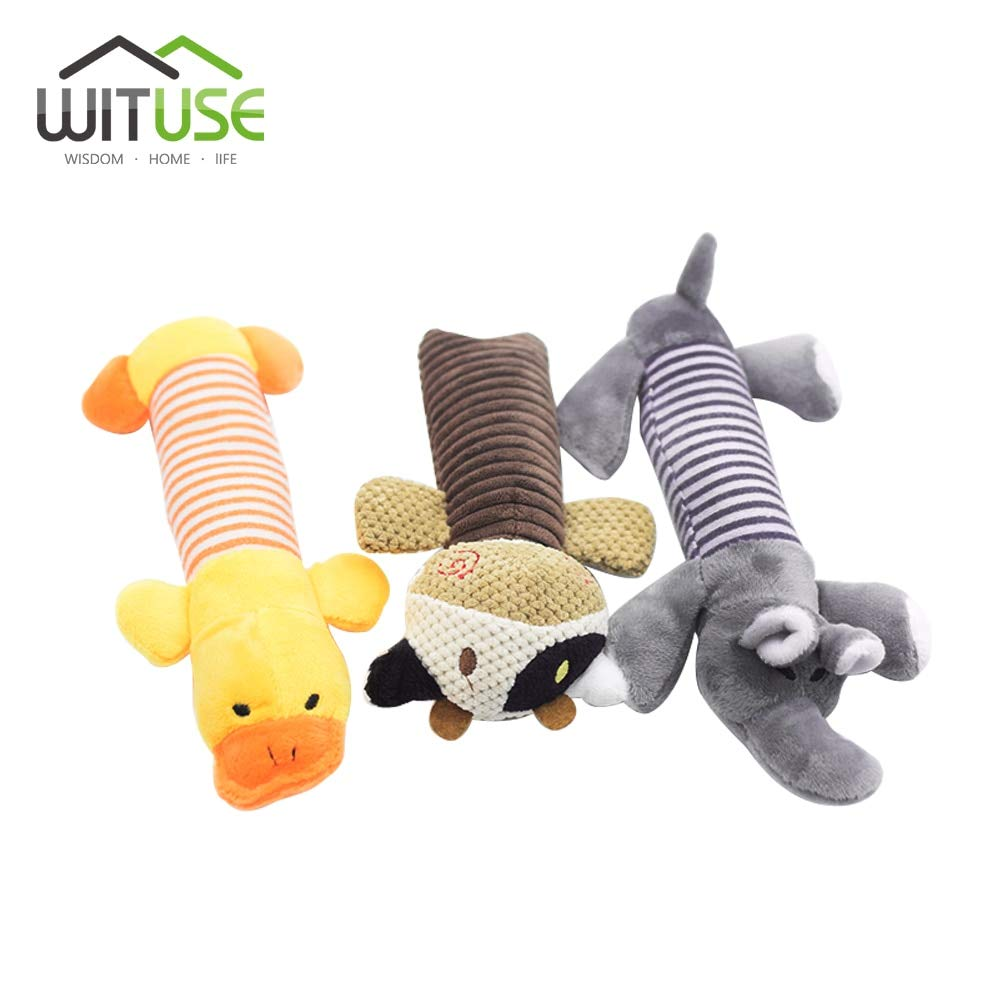 Interactive Toys for Dogs Puppy Linen Plush Cartoonic Animals Dog Squeak Chew Sound Toys Squeaker Squeaky Plush Dog Toys