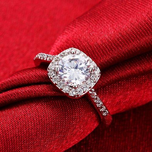 Eternal Love Women's 18K Rose/White Gold Plated CZ Crystal ...