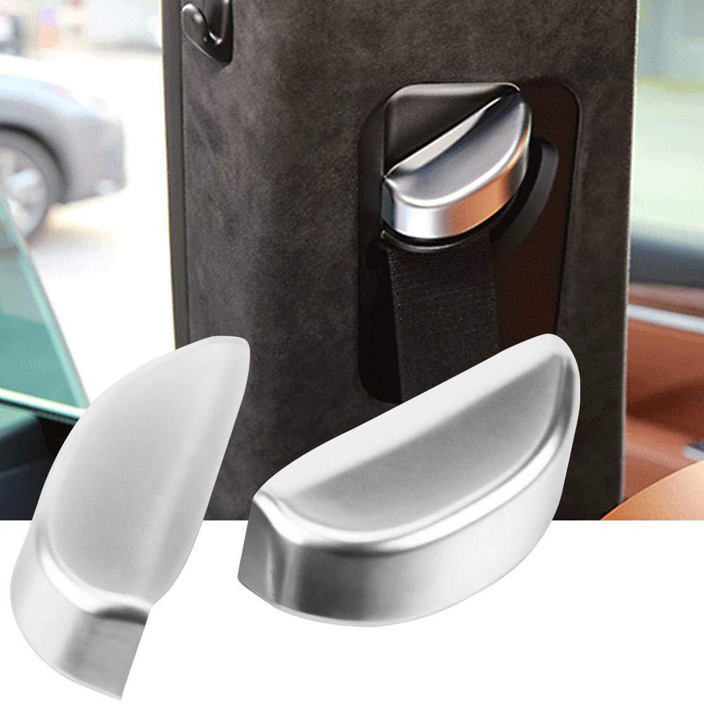 argento Kimiss di fibbia della cintura di sicurezza 2PCS seggiolino auto cintura di sicurezza cintura fibbia cover Trim sticker