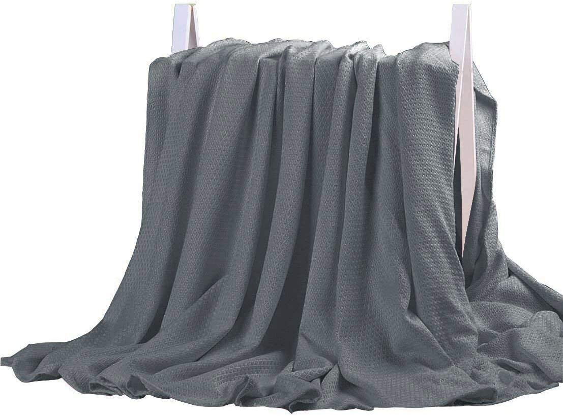 DANGTOP Cooling Blankets, Cooling Summer Blanket for Hot Sleepers, Ultra-Cool Cold Lightweight Light Thin Bamboo Blanket for Summer Night Sweats (59x79 inches, Dark Grey)
