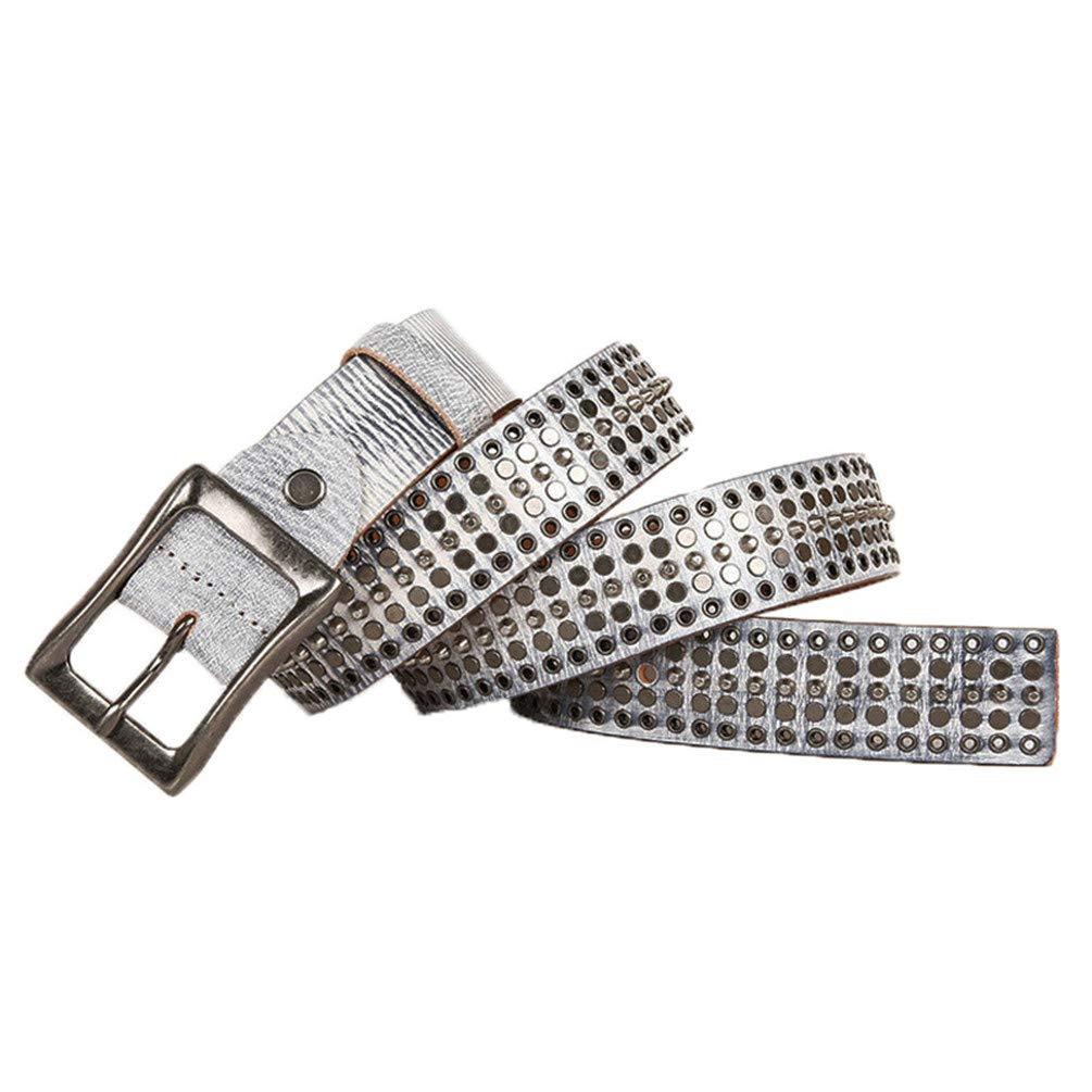 Leather Cowboy Belt Buckle Rivet Punk Belts For Men Rock Jeans Belt