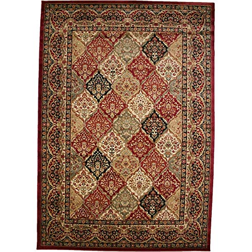 (Rug Empire Panel Kerman Claret Area Rug, Red 7940)