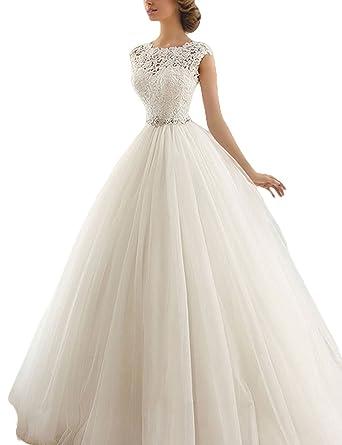 Jaeden Brautkleid Lang Hochzeitskleider Prinzessin Damen Brautmode