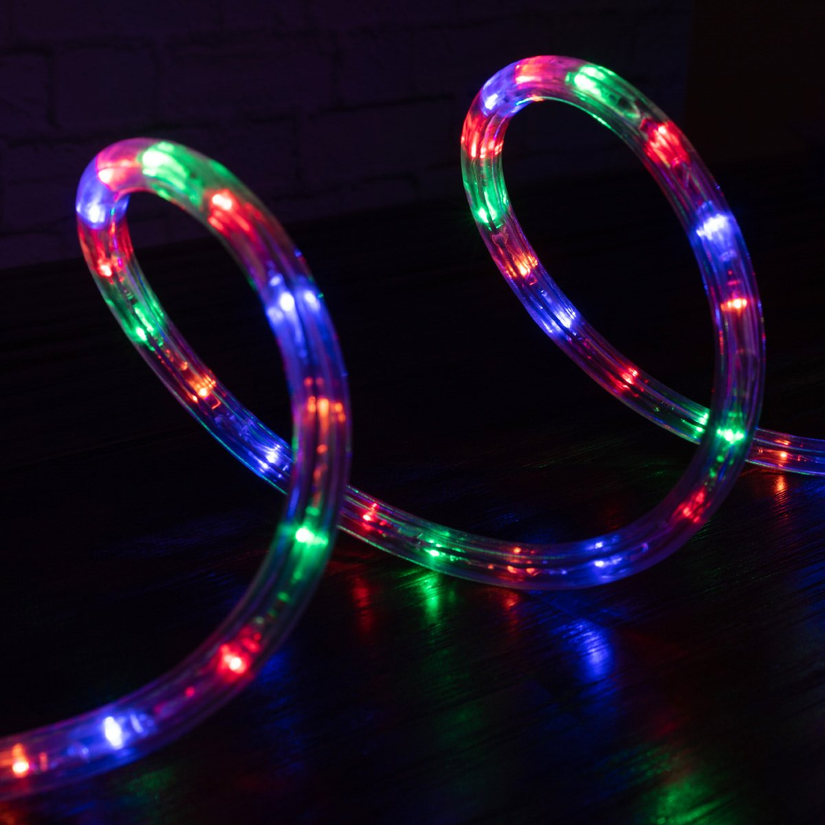 west ivory 1/2 | etl certified 25 feet mixed colors led rope lights 2 wire  accent holiday christmas