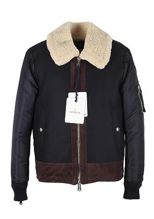 Moncler CL Blue Plovan Wool Cashmere Blend Jacket Coat Size