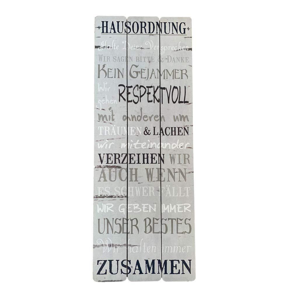 Shabby Schild Wandschild Dekoschild Chic Vintage Geschenk GLÜCK 10 x 30 cm Deko