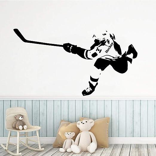 Jugar Pegatinas de Pared de Hockey sobre Hielo Amante de los ...