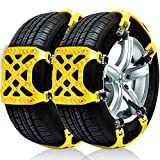 Dolloly Snow Tire Chains Anti-skid Chain Mud Chains Anti-slip Chains for Cars Truck SUV Tire Emergency Winter Driving (Snow Chains 2)