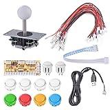 XCSOURCE Zero Delay Arcade DIY Kit Parts USB Encoder To PC Joystick 5Pin Rocker + 10pcs White Push Buttons AC783