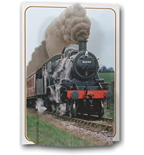 Personalised steam train birthday card 2 designs the flying steam engine train locomotive railway a 3d pop up greeting card from bookmarktalkfo Image collections