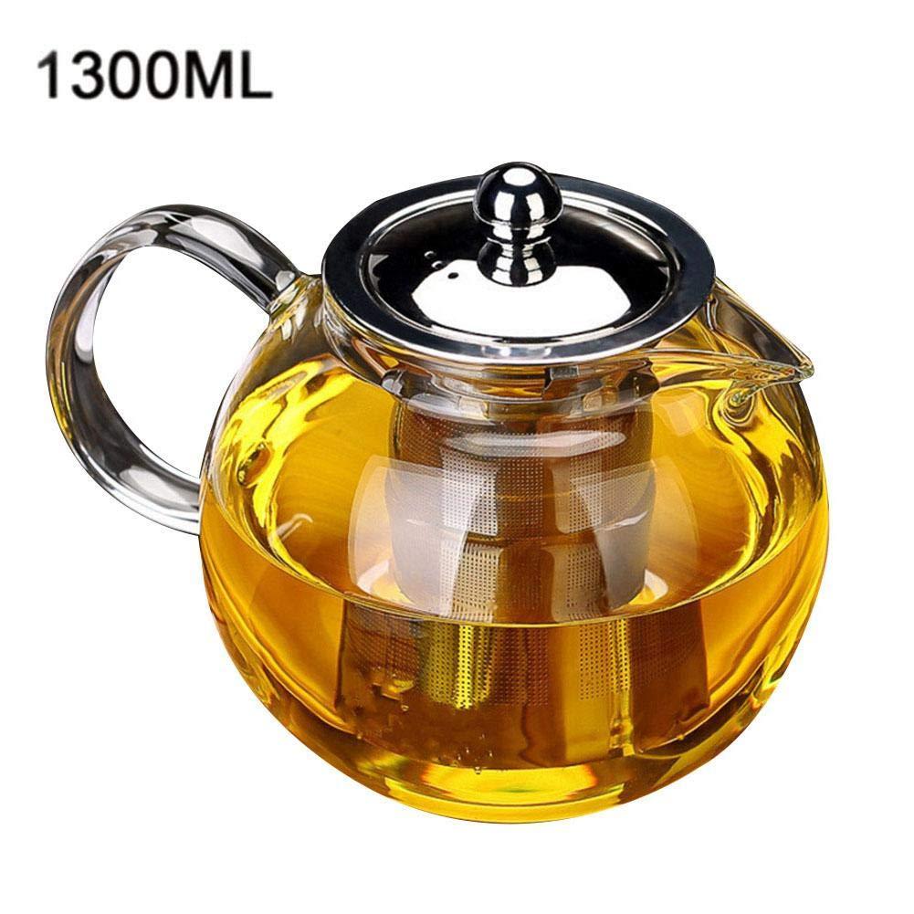 cocina de inducci/ón 650 ml resistente al calor favourall Tetera de cristal con filtro de acero para ni/ños