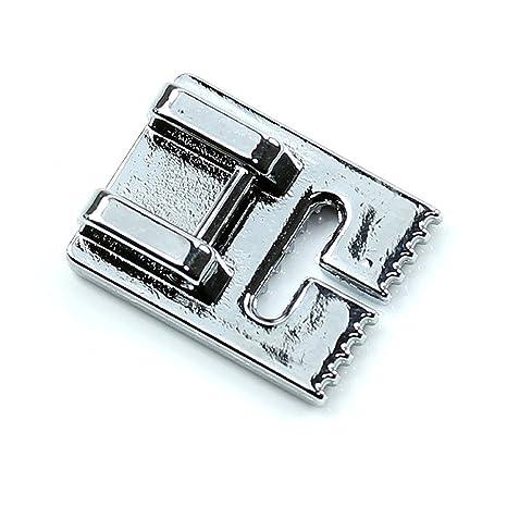 SODIAL Maquina de coser pliegue de pin prensatelas de 9 ranuras para Brother Singer Janome