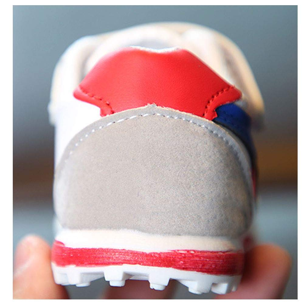 EsTong Toddler Pu Leather Baby First Walkers Boys Girls Sneakers Kids Running Shoes