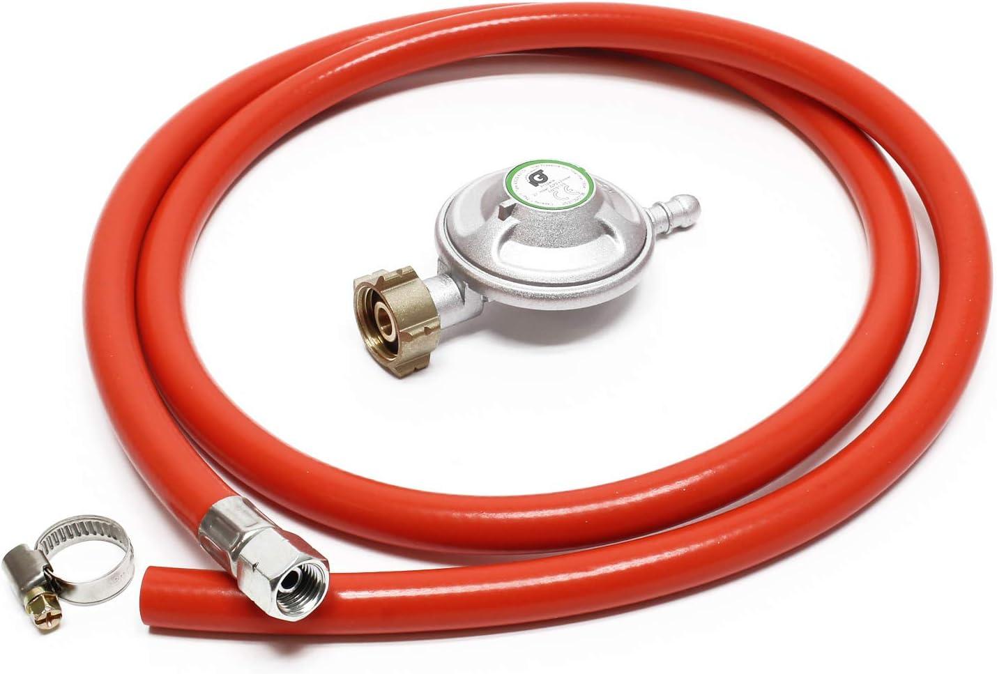 WilTec Manguera de Gas 1.5m y regulador de presión 37mbar ...