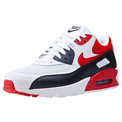 e56ca87a4c060 Nike Men's Air Max 90 Essential, White/University RED-Black, 12 UK:  Amazon.co.uk: Shoes & Bags