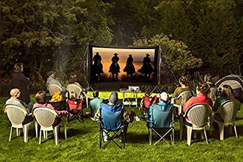 Backyard Theater Systems Recreation Series, 11' Dual Screen, Savi 720p HD Projector, 2 Savi 5.25
