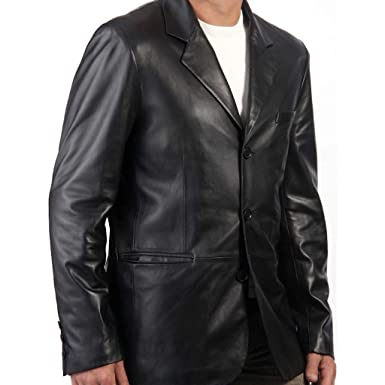 d0c45c6f30b5 Image Unavailable. Image not available for. Color  Men s Sicilian 3 Button  Lamb Leather Blazer