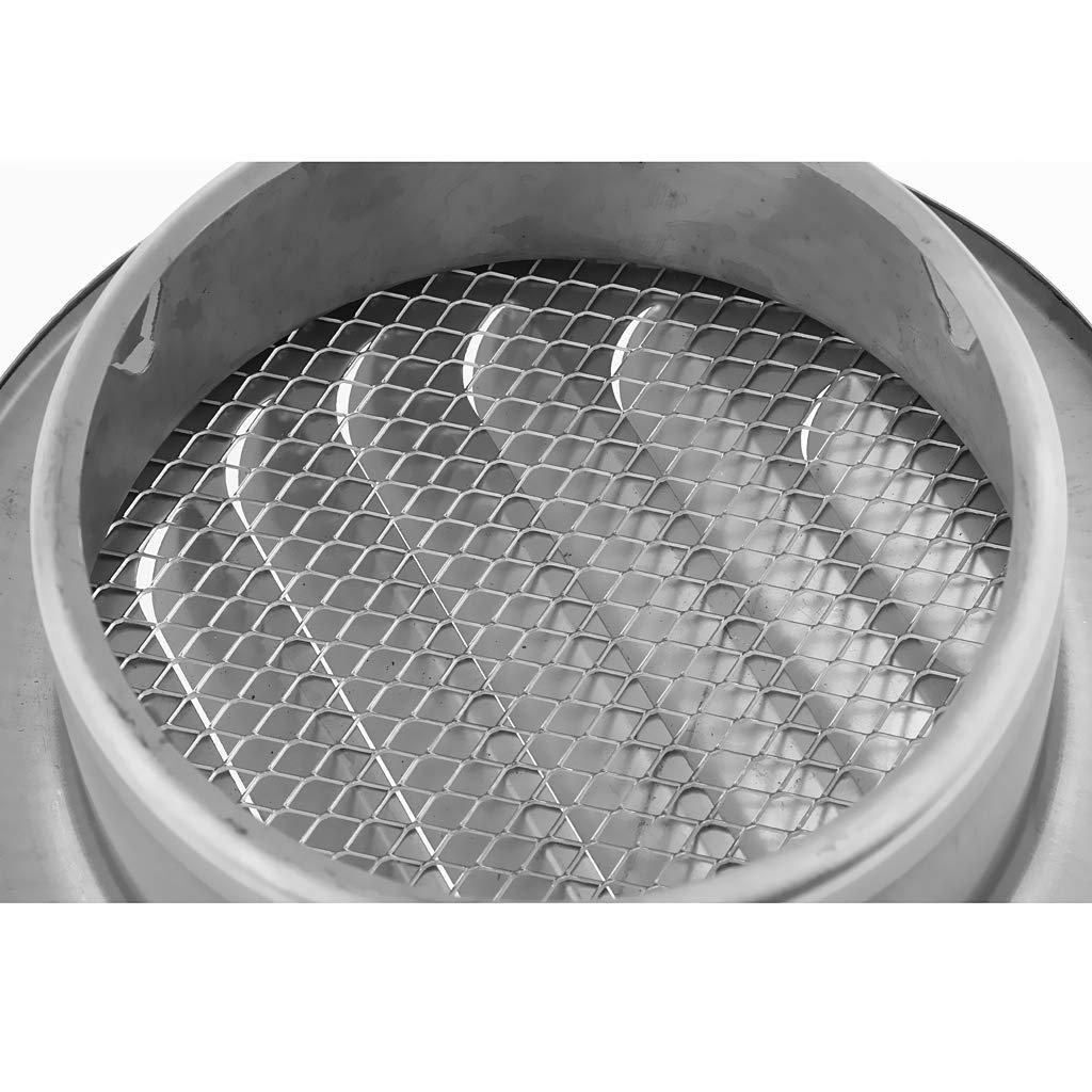 Almencla Couvercle d/Évent Mural Conduit dA/ération de Sortie de Balle Grilles de Ventilation en Acier Inoxydable 120mm