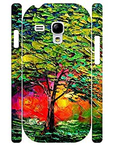Design Sweet Tree Oil Painting Rugged Phone Aegis for Samsung Galaxy S3 Mini I8200