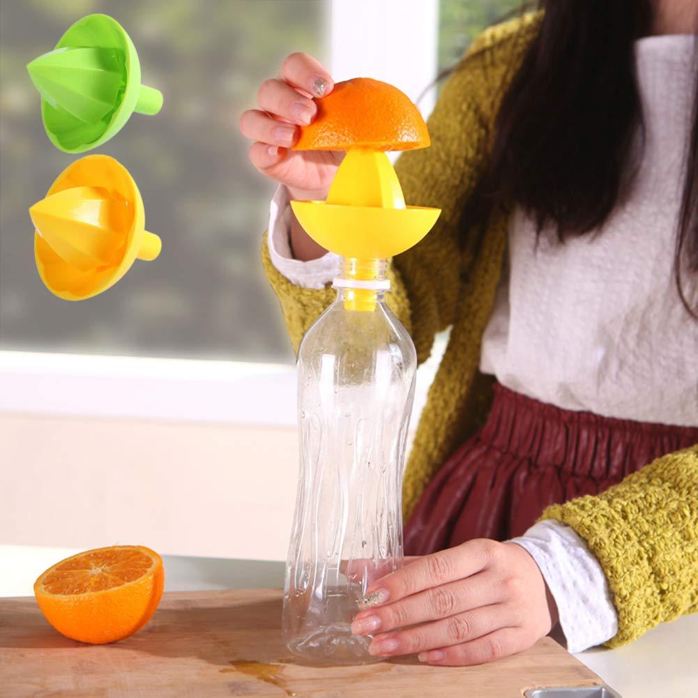 NAttnJf Spremiagrumi manuale Strumento per estrattore di verdure con succo darancia e spremiagrumi manuale Colore casuale