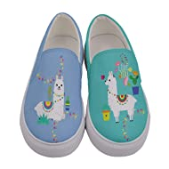 InterestPrint Custom Cactus Slip On loafers Women/'s Canvas Flat Shoes