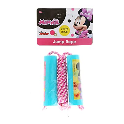 What Kids Want Minnie Mouse Bow - Tique Shaped Handle Jump Rope: Toys & Games