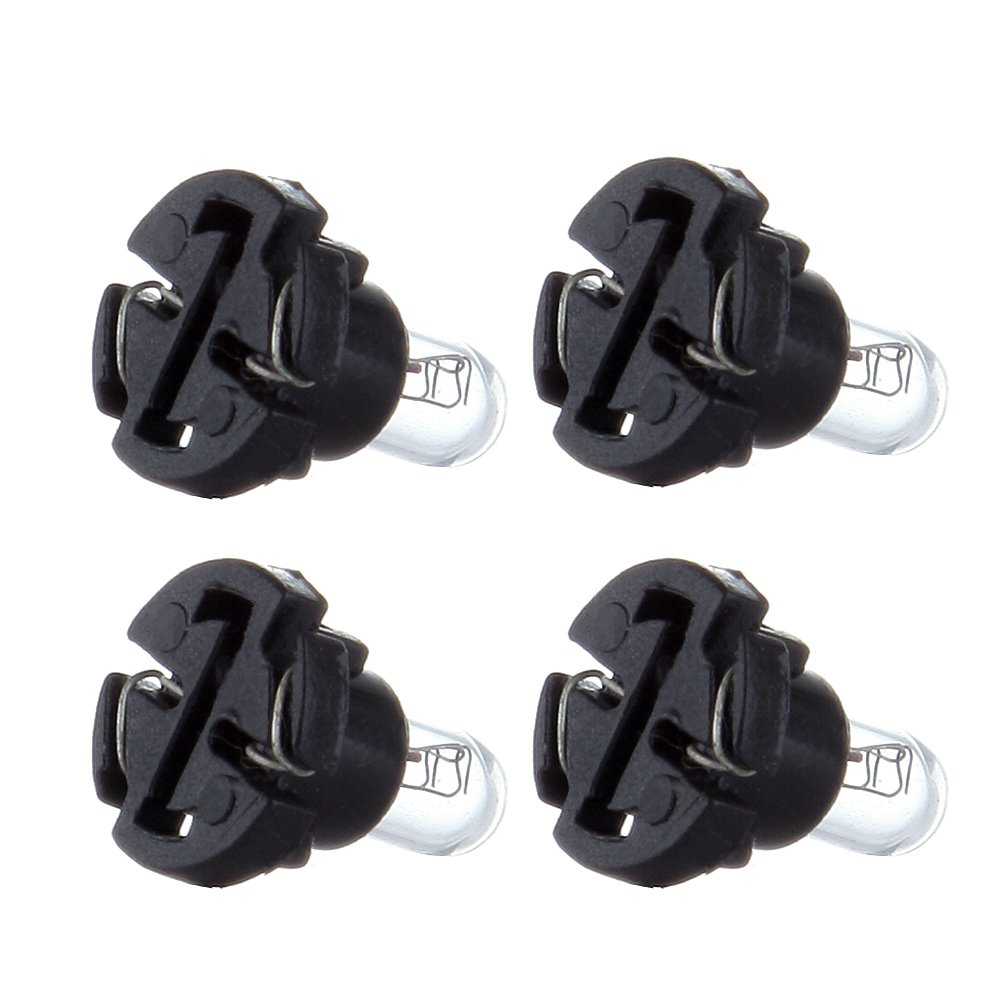 cciyu T4//T4.2 Neo Wedge Halogen Bulbs Replacement fit for Instrument Dash A//C Climate Control Light,10Pack