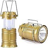 Rose Enterprises Rechargeable LED Light Lantern 6 + 1 LED Solar Emergency Light Lantern, USB Mobile Charging 2 Power Source Solar (Multicolor)