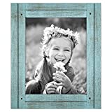 Americanflat 8x10 Turquoise Blue Distressed Wood Frame Made to Display Deal (Small Image)