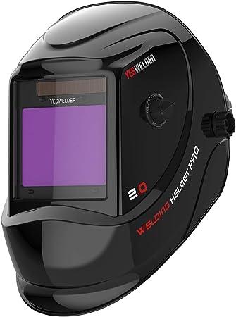 YESWELDER Battery Powered Auto Darkening Filter Welding Helmet Shade 4 9-13
