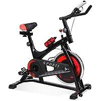 CENTURFIT Bicicleta Fija Spinning Fitness Indoor Gimnasio Excelente Calidad Disco Rueda de 6kg Ejercicio Casa Oficina con Botella 6kgs