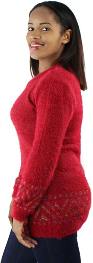 Zimaes-Men Chunky Relaxed-Fit Fuzzy Jersey Hoodies with Pockets