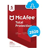 McAfee Total Protection 2020  | 5 Devices | 1 Year | PC/Mac/Android/Smartphones | Download Code