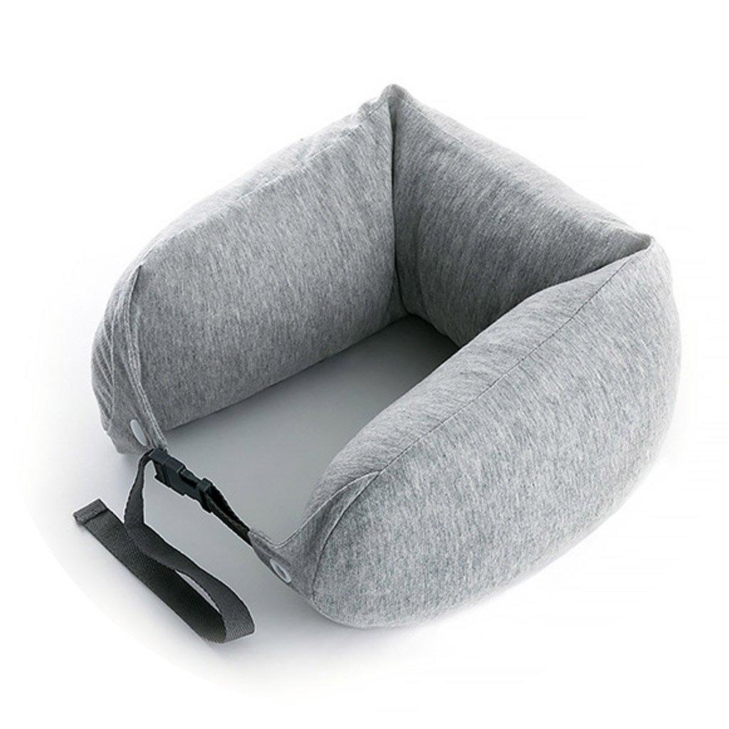 ZHOU LI Soft Travel Kissen Unterstützung für Hals, Kopf, Memory Foam, leicht, tragbar, Kissen (Farbe : Grau)