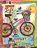 LANG - Address Book -''Happy Company'', Artwork by Lori Siebert - Lay-Flat, 3-Ring Binding - 6.5'' x 8.5'' x 1.75''