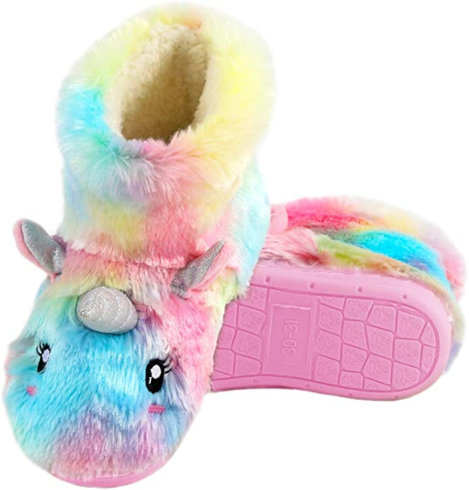 WpBenf Dabbing Unicorn Fashion Slippers for Boy Girl Indoor Outdoor Casual Sandals Flip-FlopsShoes