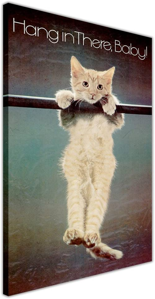KITTEN HANG IN THERE BABY CANVAS QUOTES WALL ART PICTURES PHOTO PRINTS POSTER
