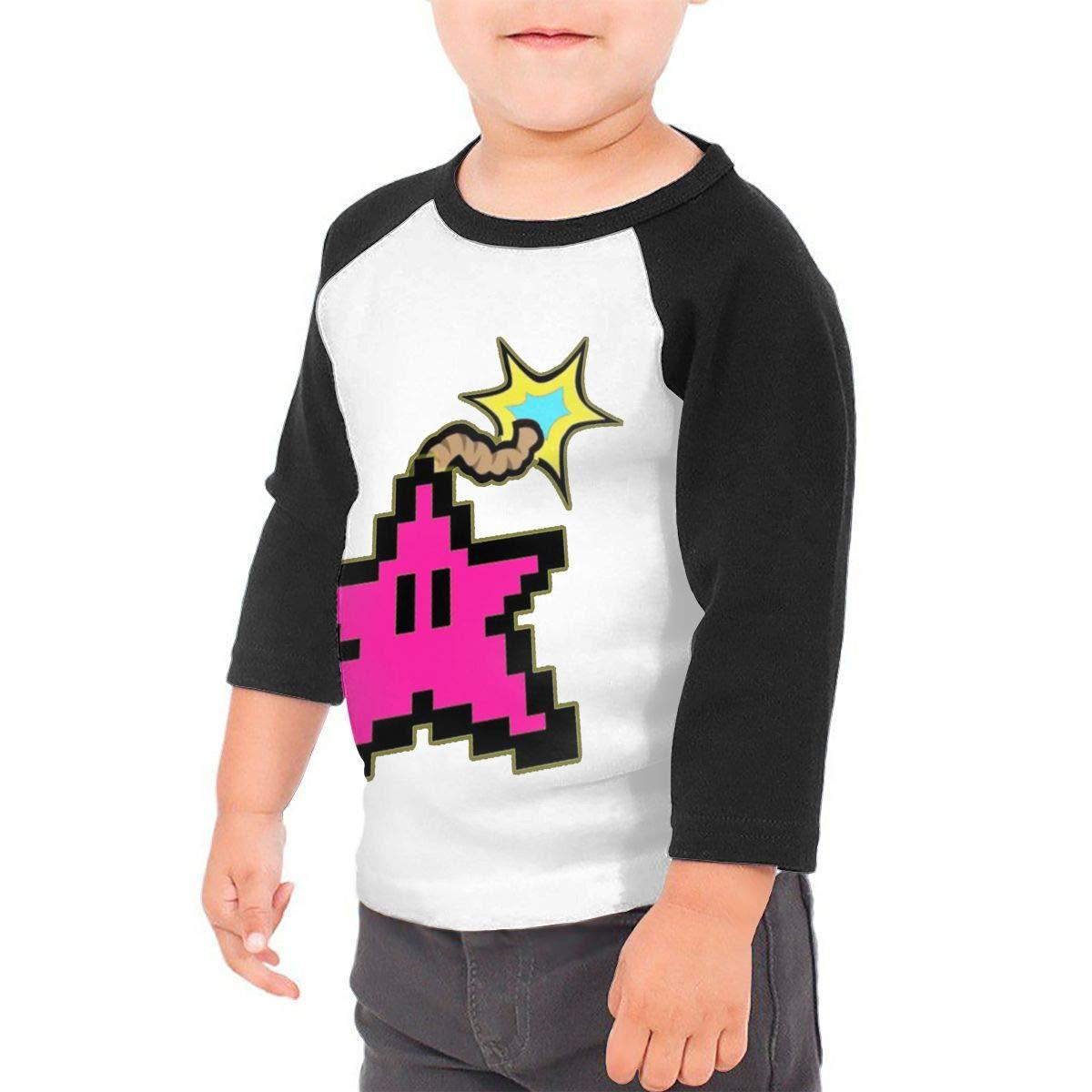Black6Red Starbomb V2 Childrens 3//4 Sleeve T-Shirt