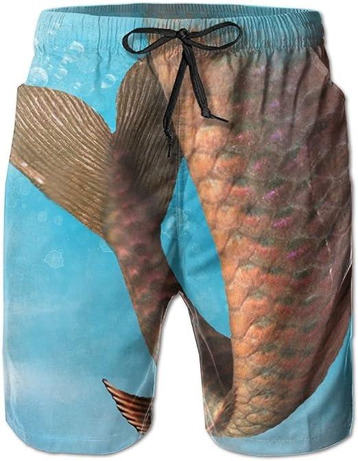 YOIGNG Boardshorts Cute Shark Mens Quick Dry Swim Trunks Beach Shorts