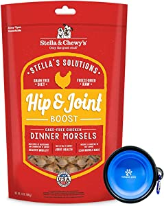 Stella & Chewy's - Stella Solutions Freeze Dried Dog Food,Snacks 13 oz Bag with Hotspot Pet Food Bowl - Made in USA (Chicken)