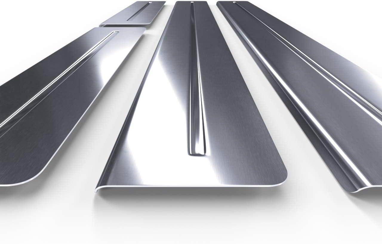 silver 5902538803588 set 4 pcs Car door sill steel protectors satin