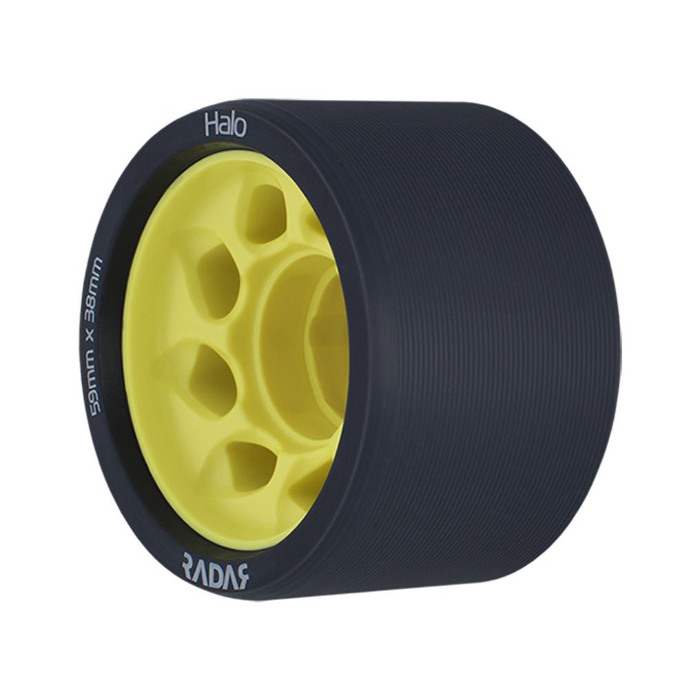 Riedell Halo - 4 Pack Roller Skate Wheels 2017 - 59mm/Yellow