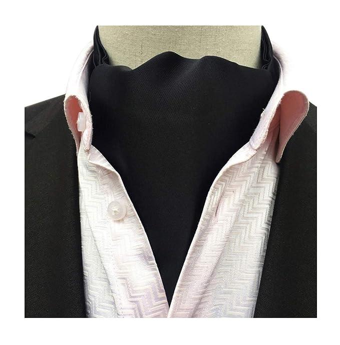 bb58830e0bc7 Secdtie Men's Black Silk Tie Woven Ascot Handmade Slim Young Gentlemen  Cravat 21